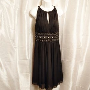 Jessica Howard Black Beaded Dress Size 6